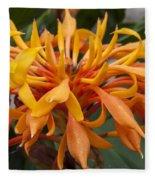 Ginger Flower Fleece Blanket