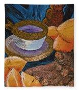 Ginger Lemon Tea 2 By Jrr Fleece Blanket