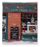 Gingerbread Bakery At Fox Creek Fleece Blanket