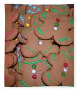 Gingerbread Cookies Fleece Blanket