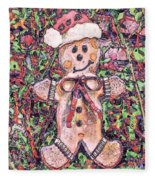 Gingerbread Fantastico Fleece Blanket