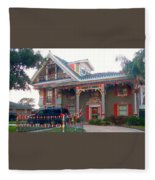 Gingerbread House - Metairie La Fleece Blanket