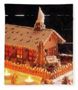 Gingerbread House, Traditional Fleece Blanket