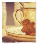 Gingerbread Man Fleece Blanket