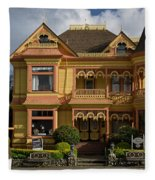 Gingerbread Mansion Fleece Blanket