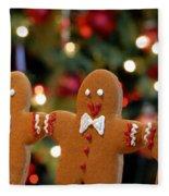 Gingerbread Men In A Line Fleece Blanket