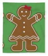 Gingerbread People Fleece Blanket