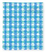 Gingham Glyphs Fleece Blanket