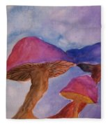 Gini's Shrooms Fleece Blanket