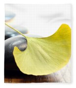 Ginkgo Leaf  Fleece Blanket