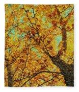 Ginkgo Tree  Fleece Blanket