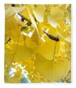 Ginko Tree Fleece Blanket
