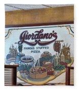 Giordanos Pizza Chicago Fleece Blanket