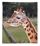 Giraffe 02 Fleece Blanket by Paul Gulliver