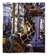 Giraffe Carousel Ride Fleece Blanket