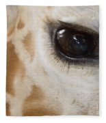 Giraffe Eye Fleece Blanket