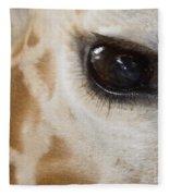 Giraffe Eye Fleece Blanket