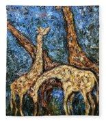 Giraffe Family Fleece Blanket