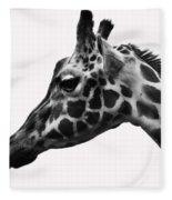 Giraffe Head Shot Fleece Blanket
