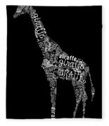 Giraffe Is The Word Fleece Blanket