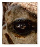 Giraffe Look Into My Eye Fleece Blanket