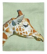 Giraffe Mug Shot Fleece Blanket