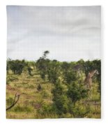 Giraffe Panorama Fleece Blanket