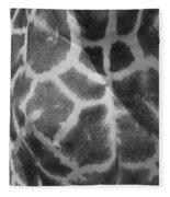Giraffe Pattern Black And White Fleece Blanket