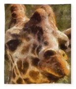 Giraffe Photo Art 01 Fleece Blanket
