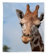 Giraffe Portrait Fleece Blanket