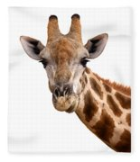 Giraffe Portrait Fleece Blanket
