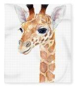Giraffe Watercolor Fleece Blanket