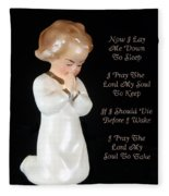 Girl Childs Bedtime Prayer Fleece Blanket