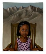 Girl From The Mountain Kingdom Fleece Blanket