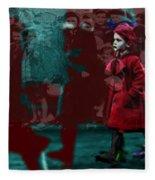 Girl In The Blood-stained Coat Fleece Blanket