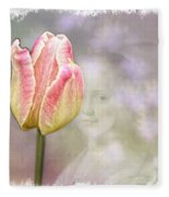 Girl In The Garden Fleece Blanket