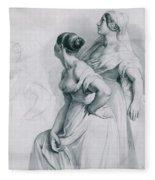 Girl Studies  1839 Fleece Blanket