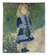 Girl With A Watering Can Fleece Blanket
