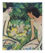 Girls In The Open Air Fleece Blanket