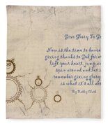Give Glory To God Fleece Blanket