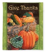 Give Thanks Fleece Blanket
