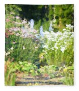 Giverny North Number Three Fleece Blanket