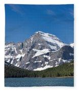 Glacier National Park Mountain Fleece Blanket