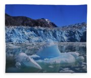 Glacier And Ice Fleece Blanket