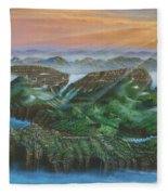 Glacier Castle Ruins Fleece Blanket