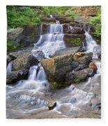 Glacier Falls Glacier National Park Fleece Blanket