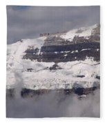 Victoria Glacier Mist - Lake Louise, Alberta Fleece Blanket