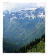 Glacier Mountain Fleece Blanket
