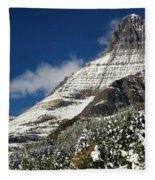 Glacier Mountains Fleece Blanket
