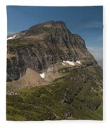 Glacier National Park Panorama Fleece Blanket